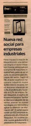 Expansión - Maquiclick - Nueva Red Social para empresas industriales
